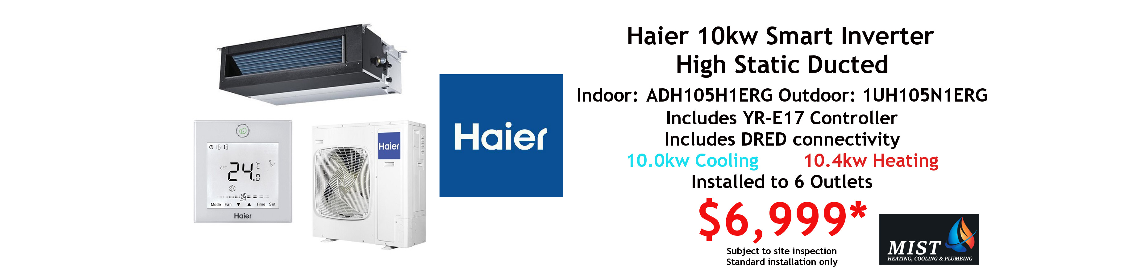 haier 10kw ducted special